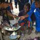Women at the Moutuka Nunene bushmeat market in Lukolela, Democratic Republic of Congo. Photo by Ollivier Girard/CIFOR
