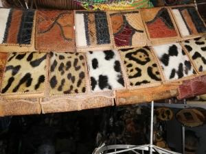 Wildlife skin wallets from Latin America